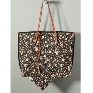 Anthro Racquel Canvas Tote Bag Floral